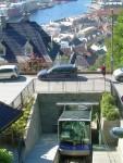 Bergen's funicular going up Mount Floyen