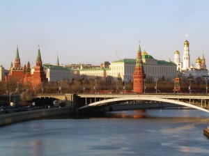 Moscow. Kremlin view from riverside