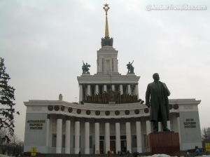 Some of the buildings & Lenin monument in VDNK