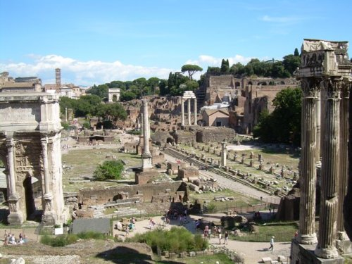 Forum - one of most famous tourist attraction in Rome