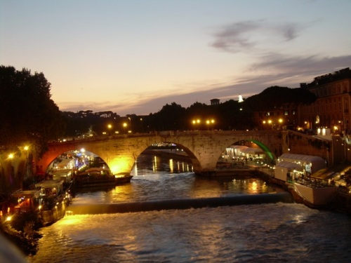 Summer Nights along the Tiber , Rome