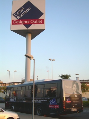 Castel Romano Designer Outlet has shuttle bus service. Return ticket - 12euro