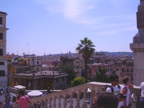 Near the Spanish Steps - view over the Rome