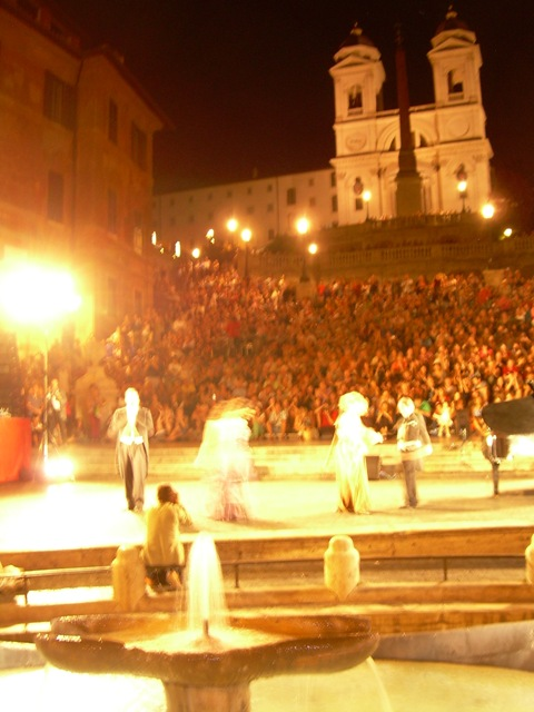 One of the great summer events in Rome - concert at Spanish Steps
