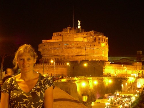 Rome, Castel Sant Angelo at night
